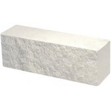 Кирпич облицовочный брусок белый скол классический 250*60*88мм М250кг/см2 полнотелый Судогодский