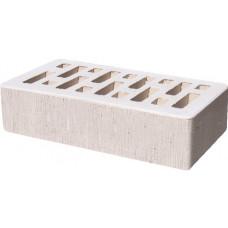 Кирпич облицовочный белый бархат 250*120*65мм утолщенная стенка 18-20мм М150кг/см2 щелевой Старый Оскол