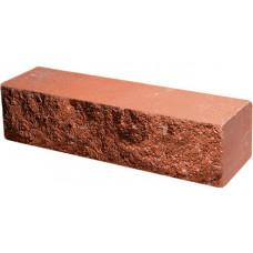 Кирпич облицовочный брусок красный скол скала 250*50*65мм М250кг/см2 полнотелый Судогодский