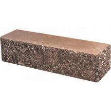 Кирпич облицовочный брусок угловой коричневый скол классический 225*60*65мм М250кг/см2 полнотелый Судогодский
