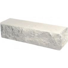 Кирпич облицовочный брусок угловой белый скол скала 225*50*65мм М250кг/см2 полнотелый Судогодский
