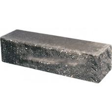 Кирпич облицовочный брусок угловой черный скол скала 225*50*65мм М250кг/см2 полнотелый Судогодский